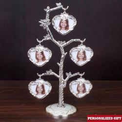 Personalized Sliver Plated Photo Tree for Nilgiris