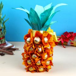 Special Pineapple Homemade Chocolates Treat for Tiruchirapalli