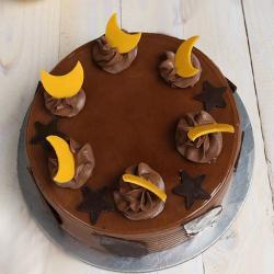 Star and Moon Chocolate Cake