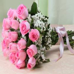 Stunning Twenty Pink Roses Bouquet