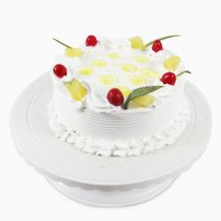 Sugar Free Round Pineapple Cherry Cake for Surendranagar